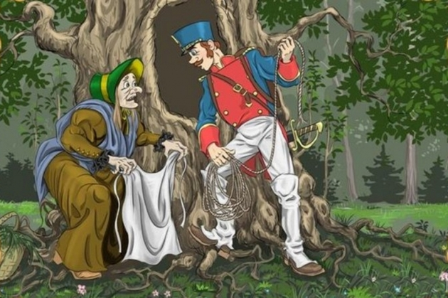 Иллюстрация из сказки Огниво
