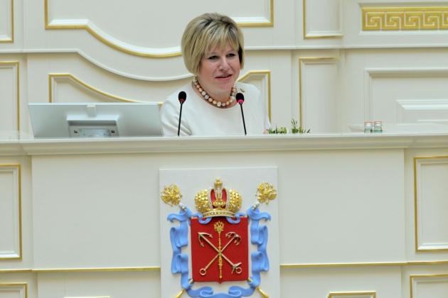 Марина Шишкина в бытность депутатом Заксобрания Петербурга