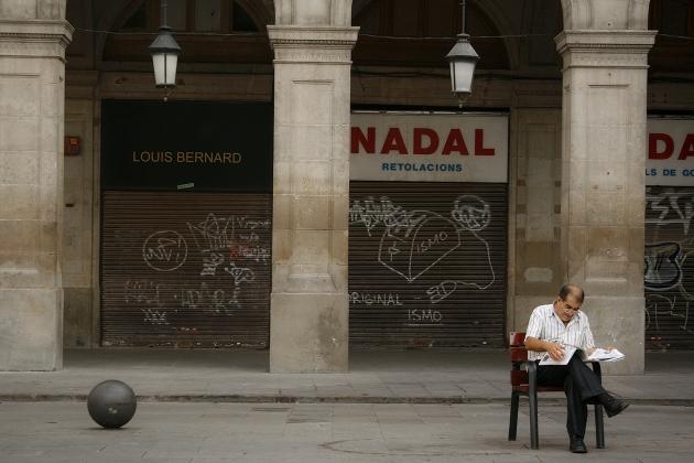 Королевская площадь (Plaza Real) в Готическом квартале Барселоны