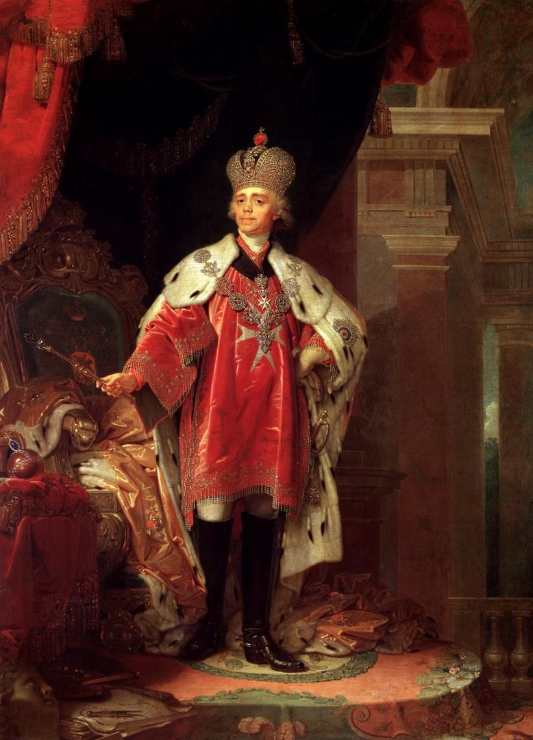 Боровиковский Владимир. Павел I в короне, далматике и знаках Мальтийского ордена