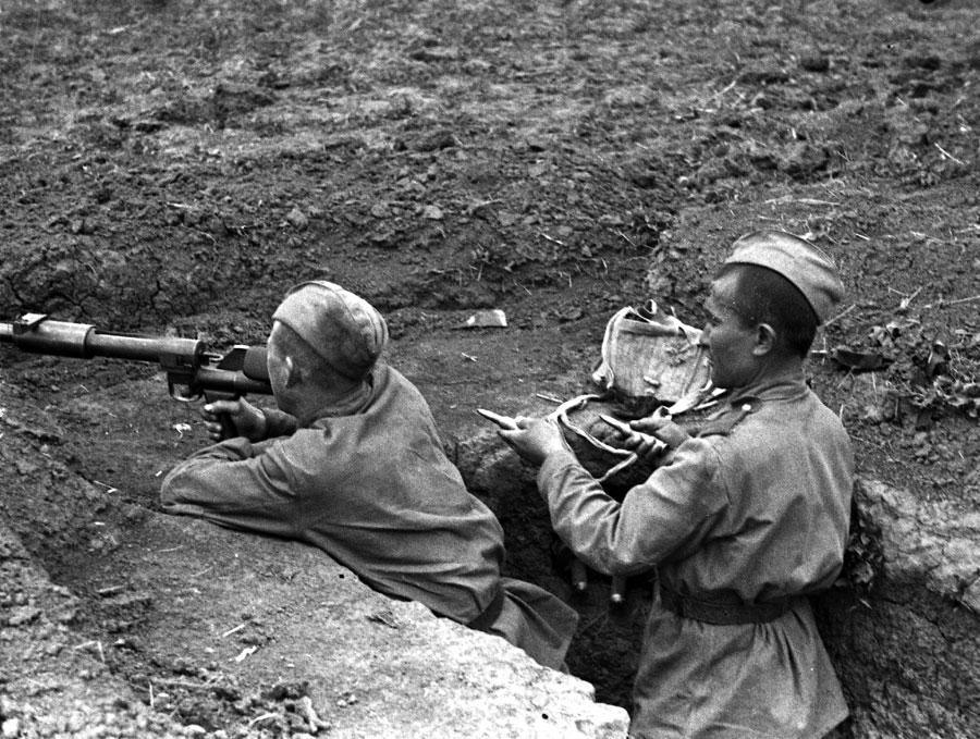 Один из экспонатов выставки «Узбекистан в годы Великой Отечественной войны»