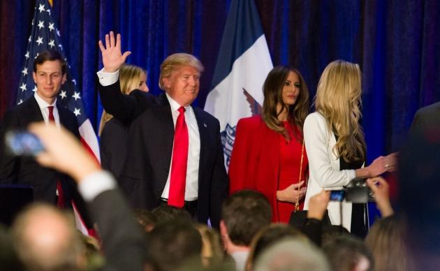 Джаред Кушнер с семьёй Трампов. 2016