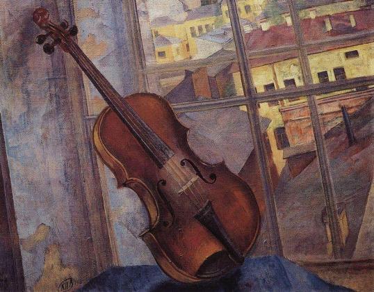 Кузьма Петров-Водкин. Скрипка. 1918
