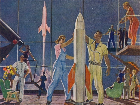 Александр Дейнека. Покорители космоса. 1961