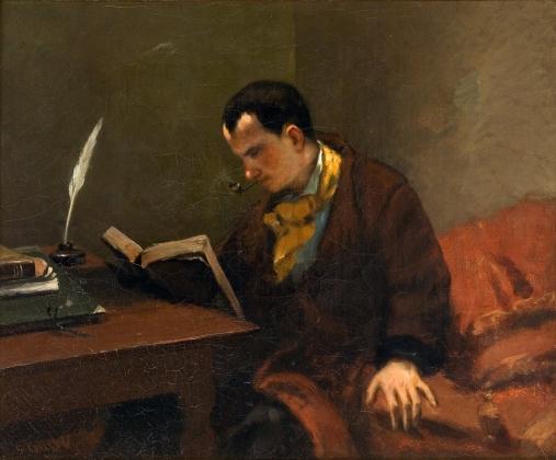 Густав Куберт. Бодлер за чтением. 1848