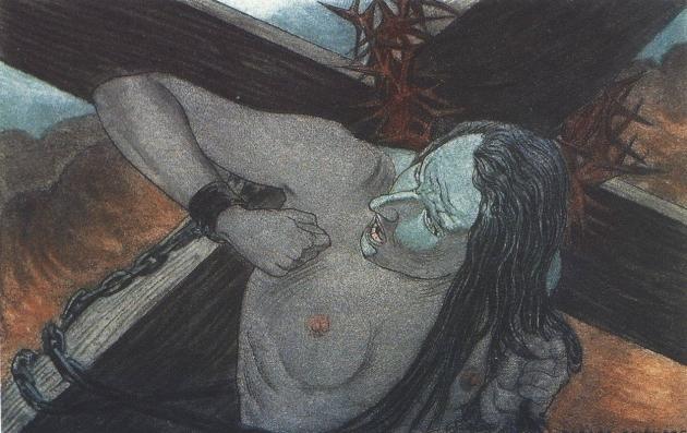 Карлос Швабе. Цветы зла. Святой Петр. 1900