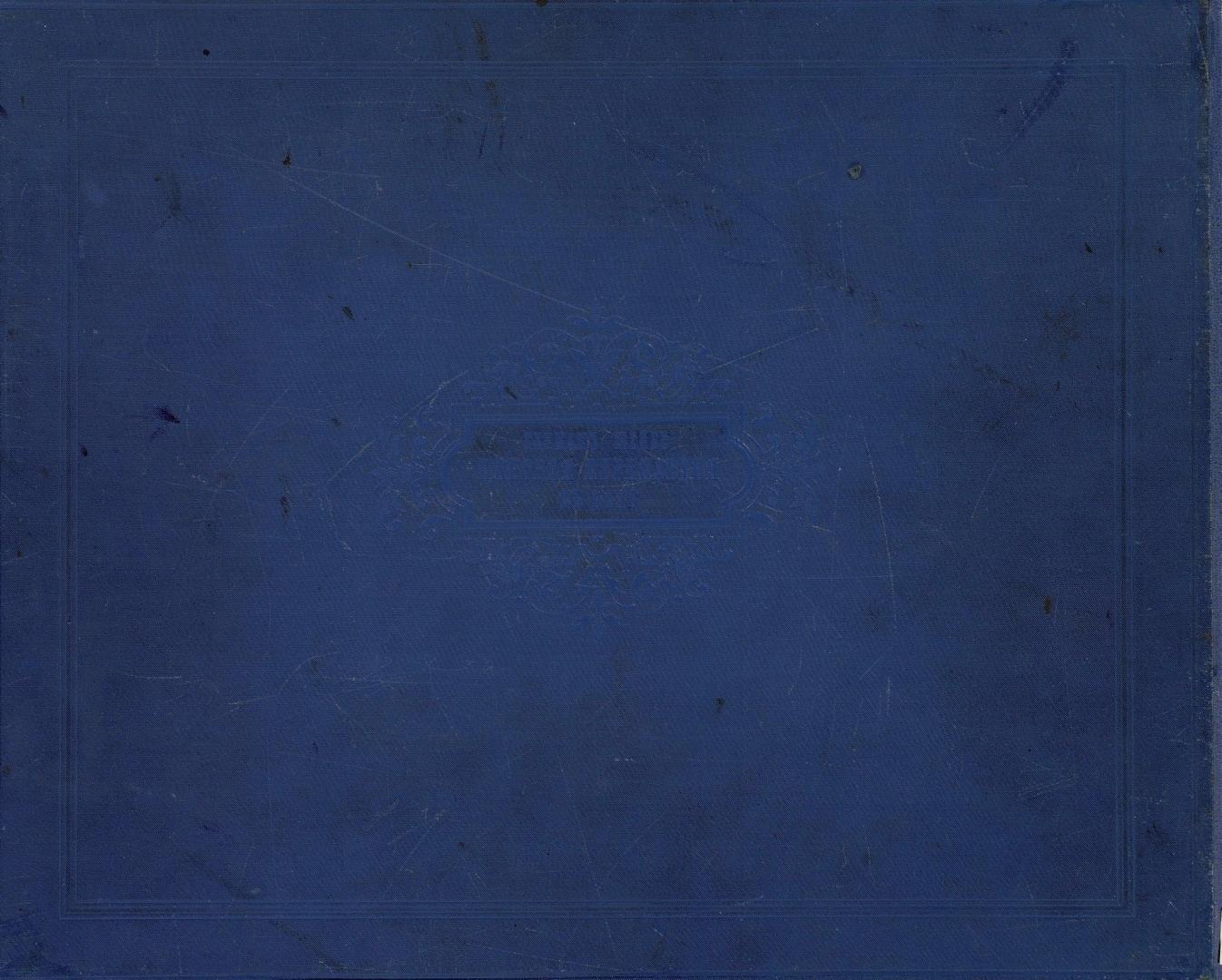 Альбом «Великий путь. Виды Сибири и Великой сибирской железной дороги». Задняя крышка обложки. 1899