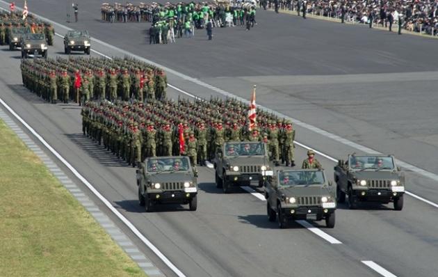 Японская армия на параде