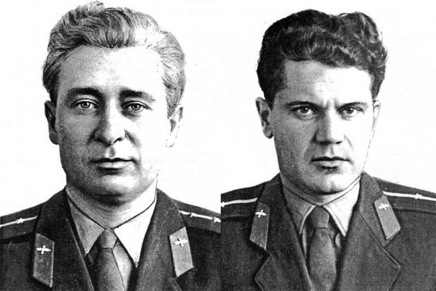 Капитан Борис Владиславович Капустин и старший лейтенант Юрий Николаевич Янов