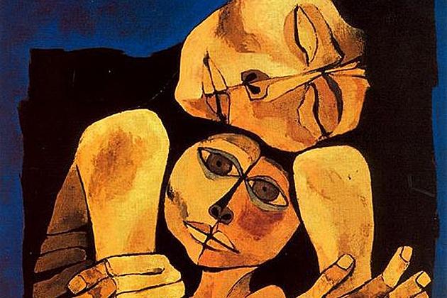 Освальдо Гуаясамин. Нежность (фрагмент). 1989