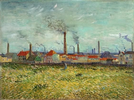 Винсент Ван Гог. Вид на фабрики. 1887