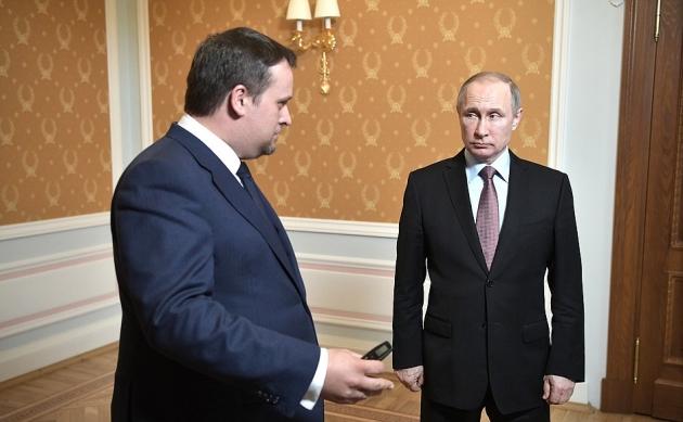 Встреча Владимира Путина с временно исполняющим обязанности губернатора Новгородской области Андреем Никитиным
