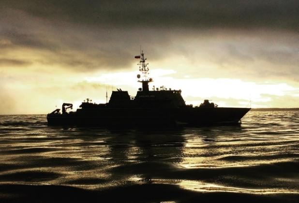 Морской тральщик