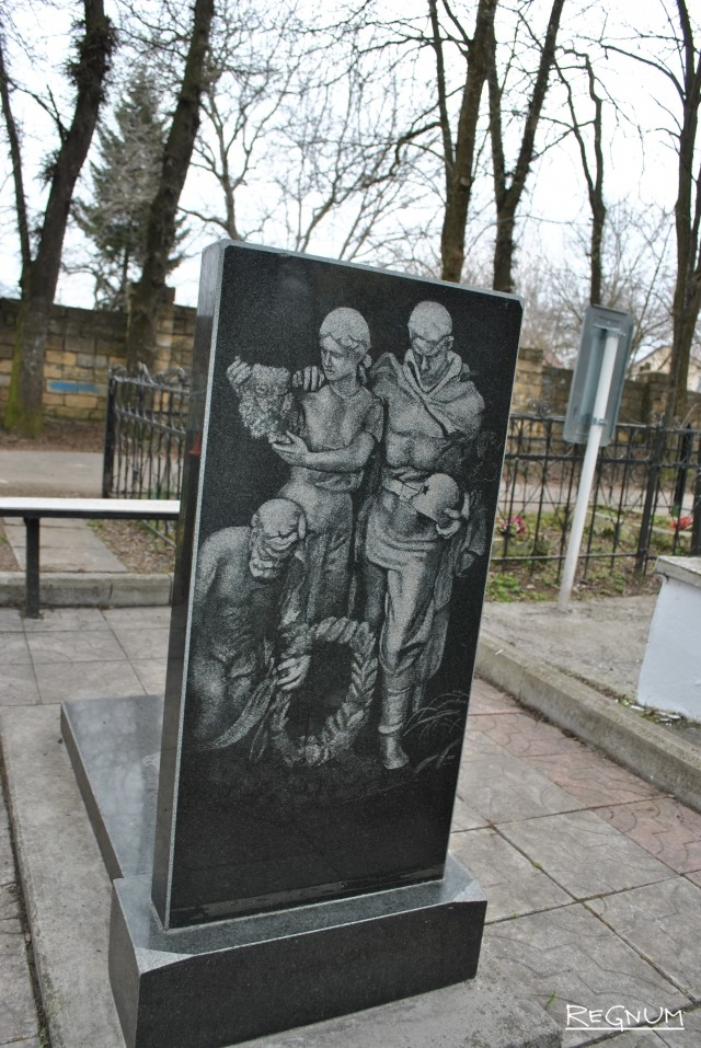 Изображение разрушенного монумента на месте погребения Ивана Гурьяновича Булкина
