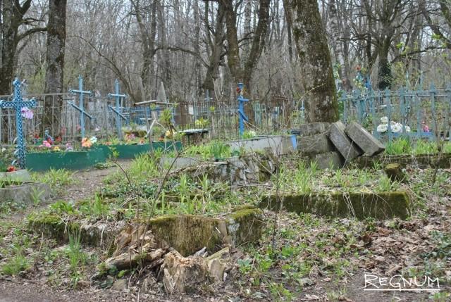 Заброшенные могилы на Даниловском кладбище
