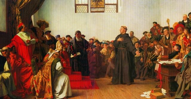 Антон фон Вернер. Лютер в Вормсе. 1877
