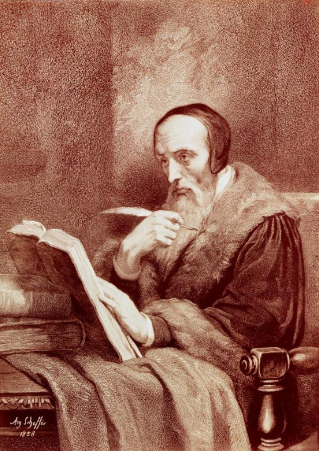Ари Шеффер. Портрет Кальвина. 1858