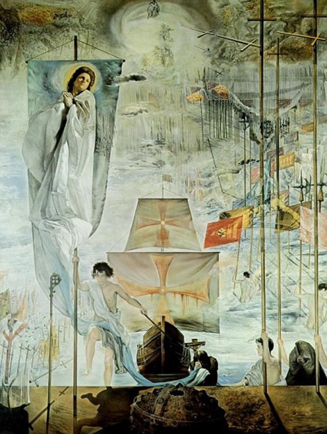 Сальвадор Дали. Открытие Америки усилием сна Христофора Колумба. 1959