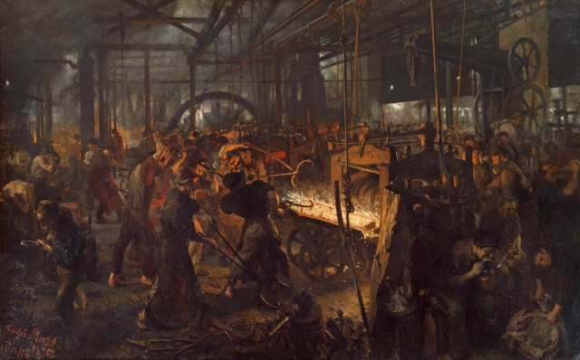 Адольф Мензель. Станок для прокатки железа. 1875