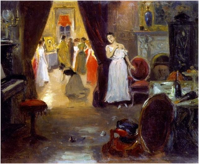 Владимир Маковский. Освящение публичного дома. 1900
