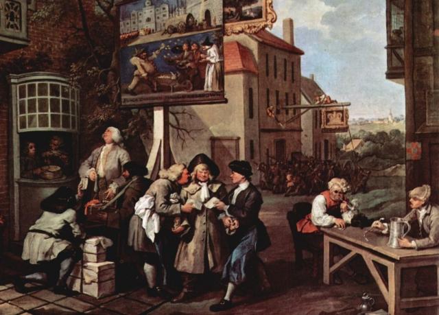 Уильям Хогарт. Выборы. Сбор голосов (фрагмент). 1755