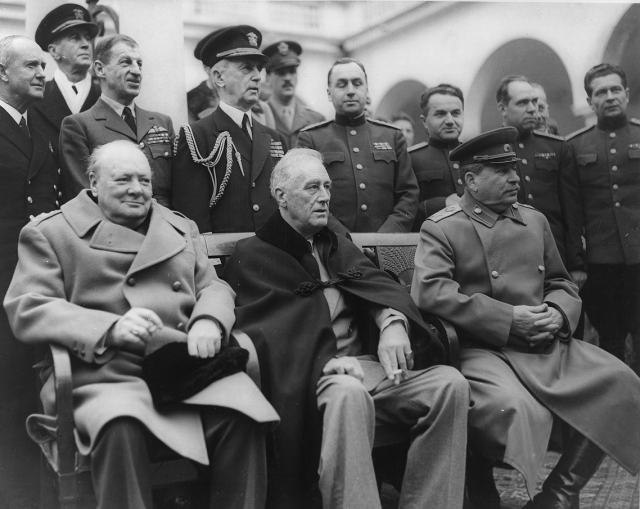 «Большая тройка» в феврале 1945 года в Ялте