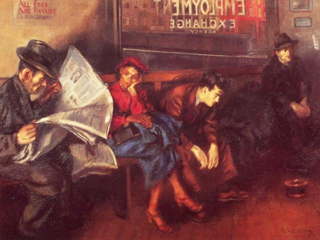 Исаак Сайес. Биржа труда. 1937