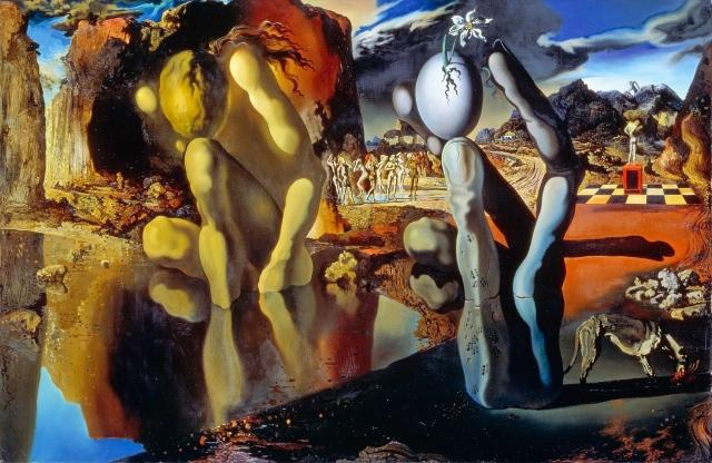 Сальвадор Дали «Метаморфоза Нарцисса» (1937)