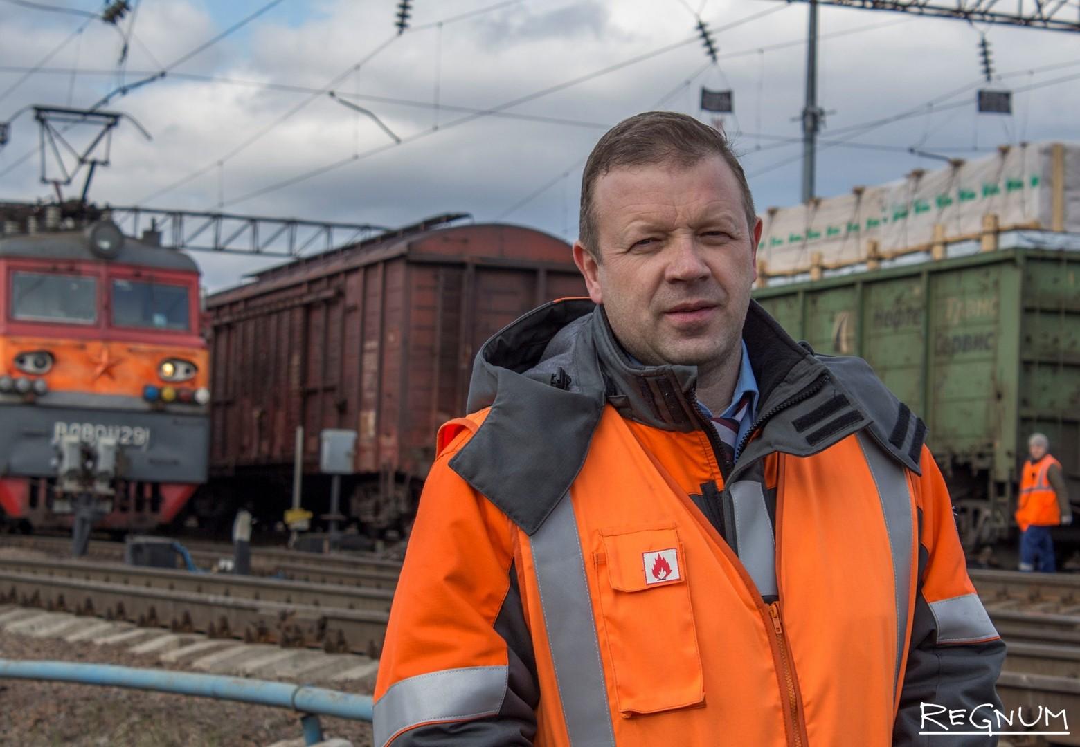 Сергей Кириллов с удовольствием рассказывает о работе на железной дороге