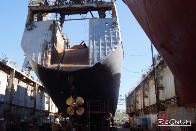 Подводную часть корабля можно отремонтировать только в доке