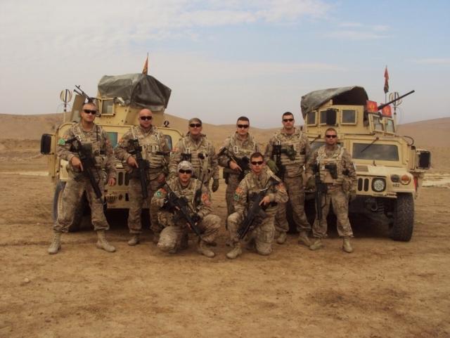 Черногорские солдаты в Афганистане