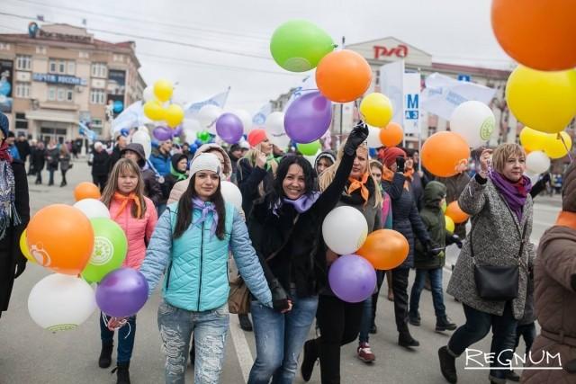 Сахалинские студенты — непременные участники всех праздников