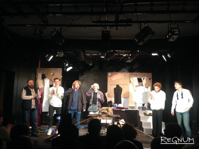 Поклоны после спектакля благодарной публике