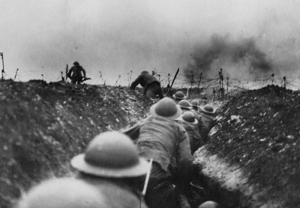 Бои в Первую мировую войну