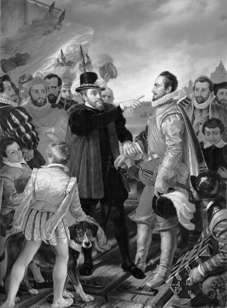 Корнелис Крузман. Филипп II обвиняет Вилльяма I, лидера нидерландской революции. 1832