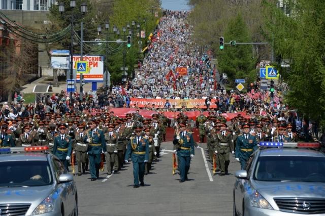 «Бессмертный полк» в Хабаровске: в колонне прошли более 50 тысяч человек