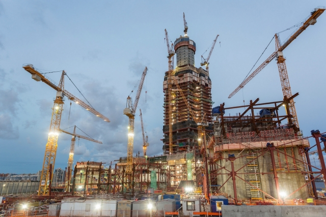 «Лахта центр» обогнал телебашню и стал самым высоким сооружением Петербурга