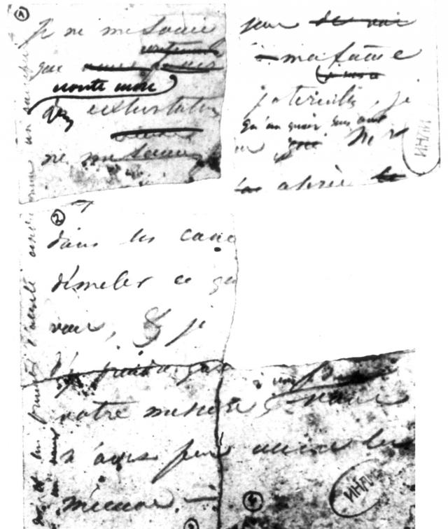 Черновик письма Пушкина Геккерну от 25.01.37, лицевая сторона