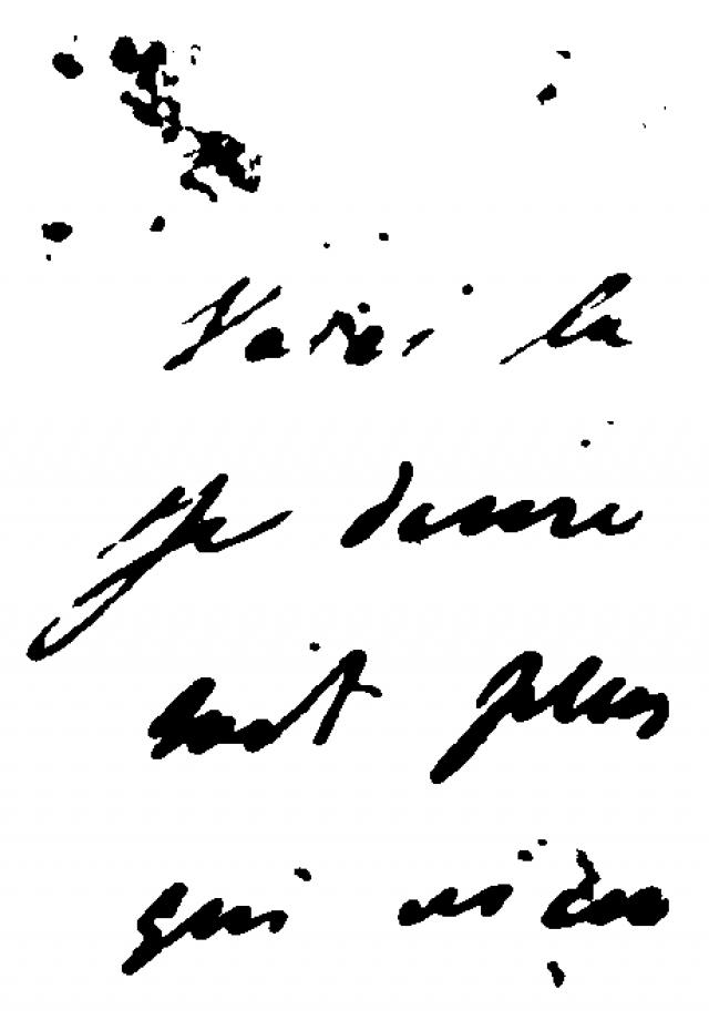 Клочок письма Пушкина из Майковского собрания