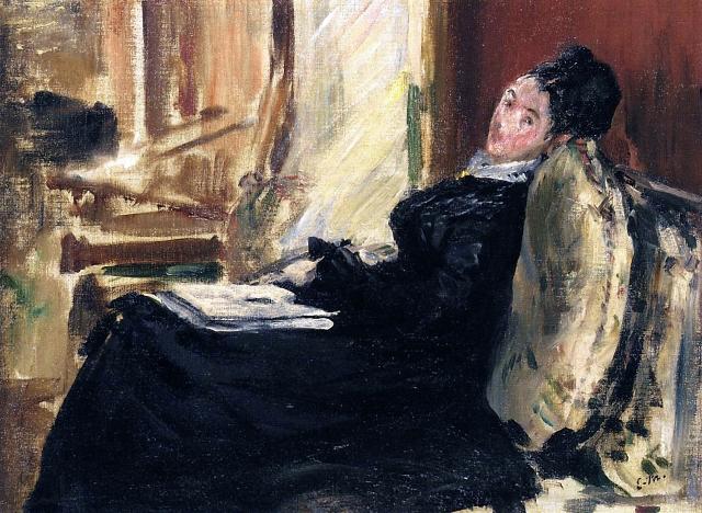 Эдуард Мане. Молодая женщина с книгой 1875