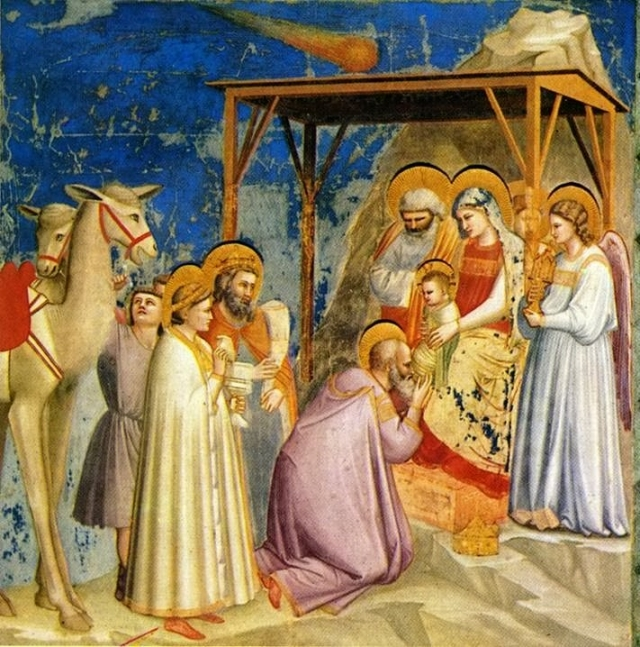 Фреска «Поклонение волхвов» Джотто ди Бондоне