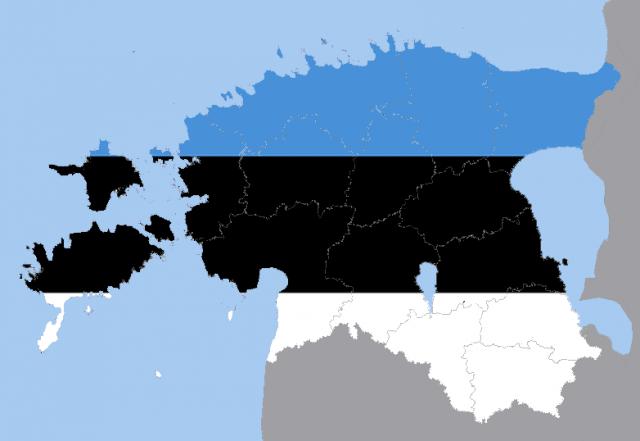 Карта-флаг Эстонии