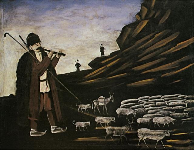 Нико Пиросмани. Пастух с отарой