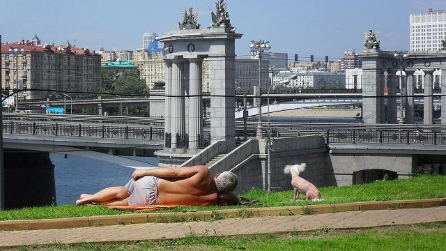 Жара в Москве. 2010