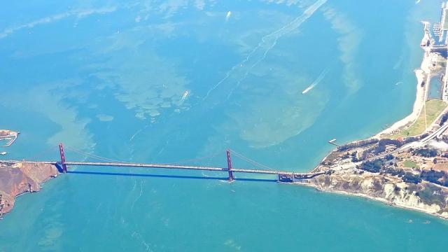Мост «Золотые ворота» с воздуха