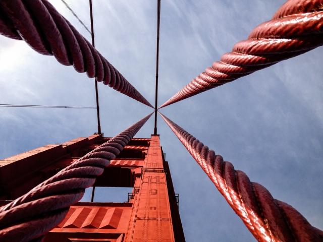 Тросы моста «Золотые ворота»