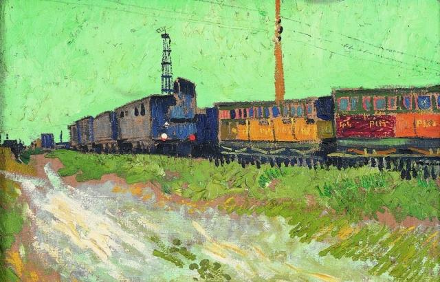 Винсент Ван Гог. Железнодорожные вагоны (фрагмент). 1888