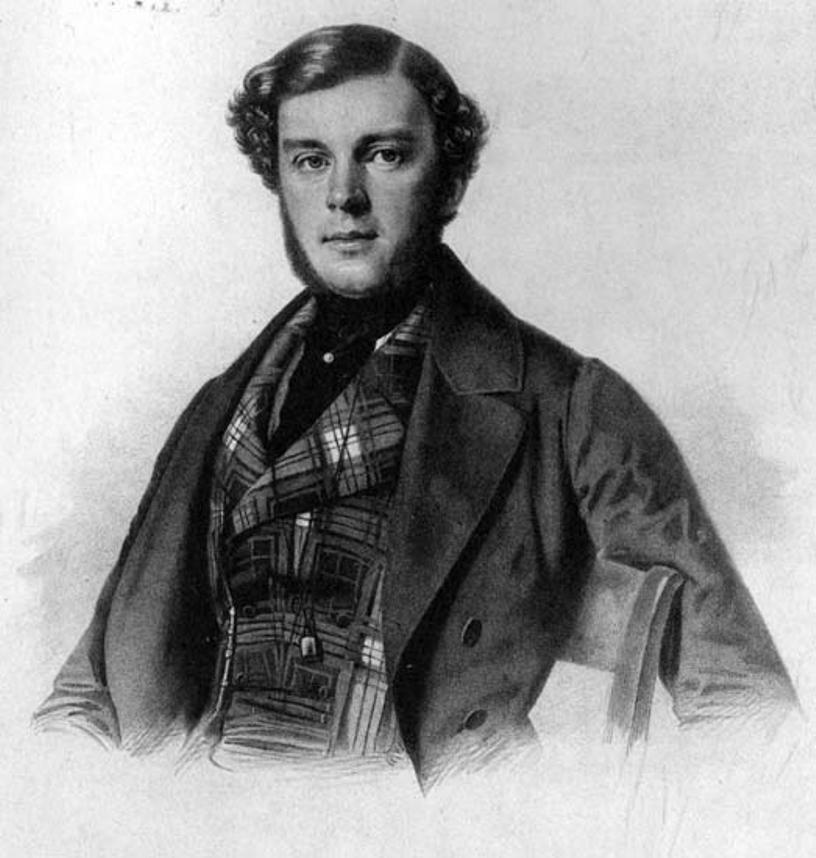 В.А. Соллогуб. Литография. Около 1840 года