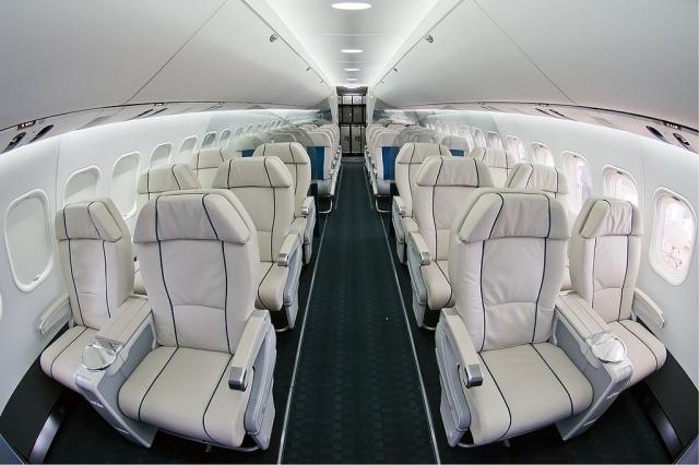 МС-21, пассажирский салон