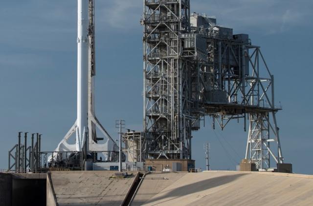 Стартовая площадка ракеты-носителя Falcon 9